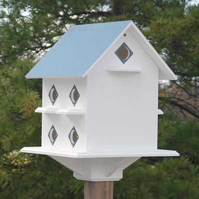 Purple Martin Mansion with Verde Colored Roof