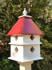 Plantation House with Merlot Red Roof, Deluxe Guards and Deluxe Finial