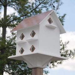 Purple Martin Mansion with Merlot Red Roof