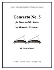 Piano Concerto No. 5 (Orch. Score & Parts)