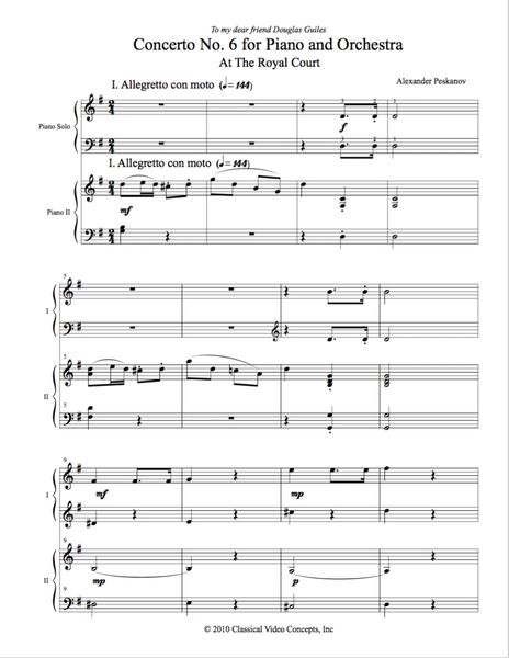 Piano Concerto No. 6 (Arranged for 2 Pianos) e-Print