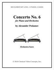 Piano Concerto No. 6 (Orch. Score & Parts)