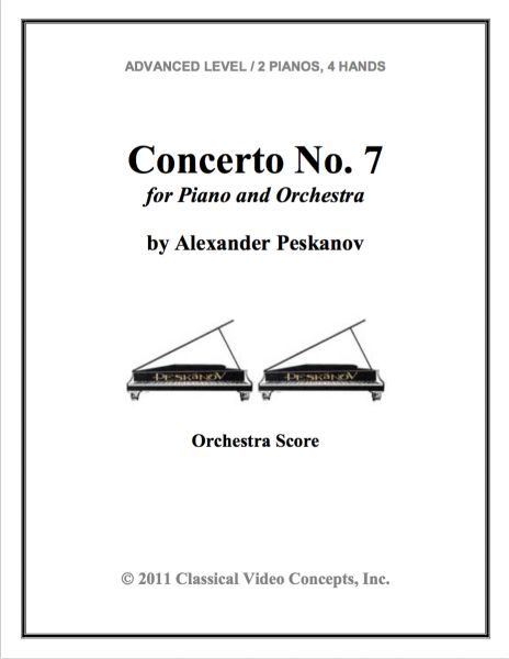 Piano Concerto No. 7 (Orch. Score & Parts)