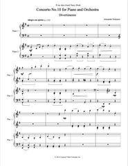 Piano Concerto No. 10 (Arranged for 2 Pianos) e-Print