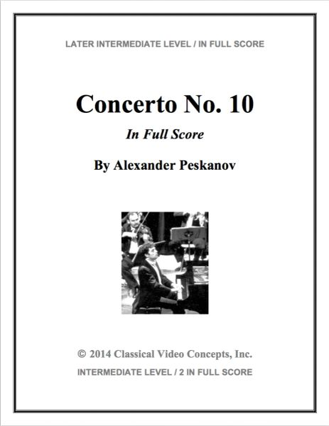 Piano Concerto No. 10 (Orch. Score & Parts)