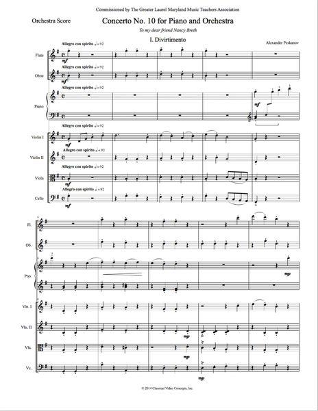 Piano Concerto No. 10 (Chamber Orch. - Digital)
