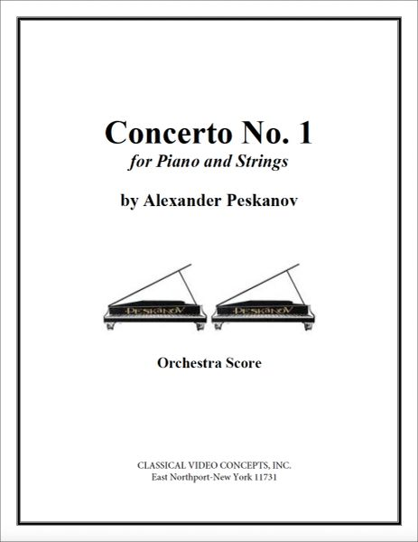 Piano Concerto No. 1 (Orch. Score & Parts)