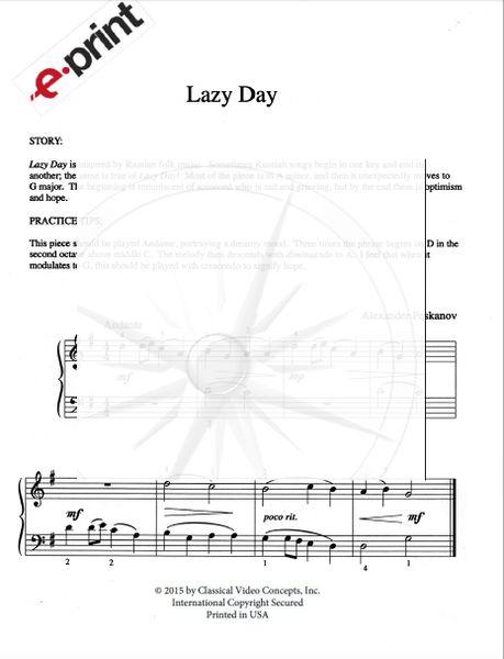 Lazy Day (e-Print)