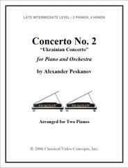 Piano Concerto No. 2 (Arranged for 2 Pianos)