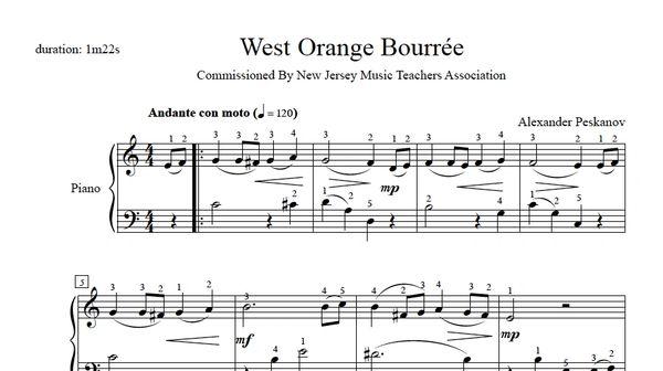 West Orange Bourrée (e-Print)