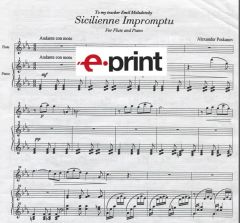 Sicillienne Impromptu for Piano and Flute (e-Print)
