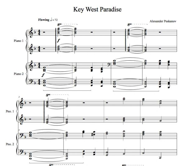 Key West Paradise (4-Hands) - Sunshine Suite