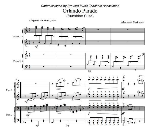 Orlando Parade (4 Hands) - Sunshine Suite