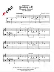 Sonatina in C (Homage to Clementi)