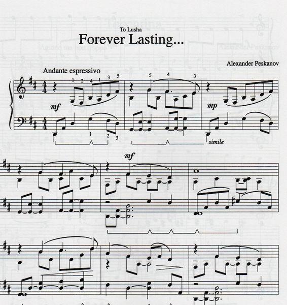 Forever Lasting... (e-Print)