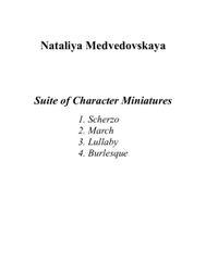 Nataliya Medvedovskaya - Suite of Character Miniatures (ePrint)