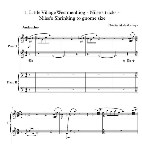Nataliya Medvedovskaya - Adventures of Nils for 4-Hands (ePrint)
