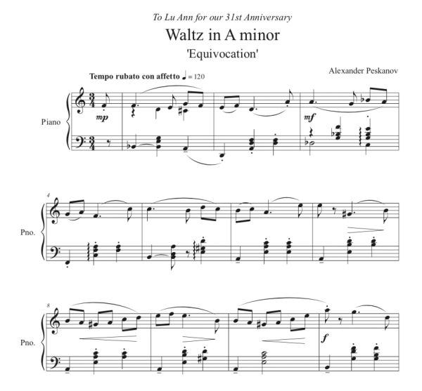 "Waltz in A Minor ""Equivocation"" (e-Print)"