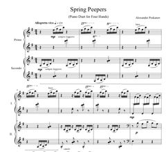Spring Peepers - 4-Hands (e-Print)