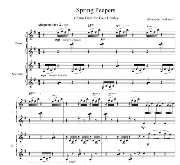 Spring Peepers - 4-Hands (Digital)
