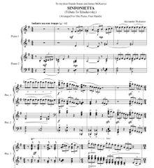 Sinfonietta - Tribute to Tchaikovsky (e-Print)