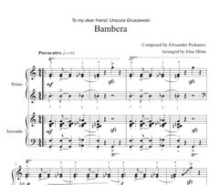 Bambera (1 Piano, 4-Hands), Arranged by Irina Mints