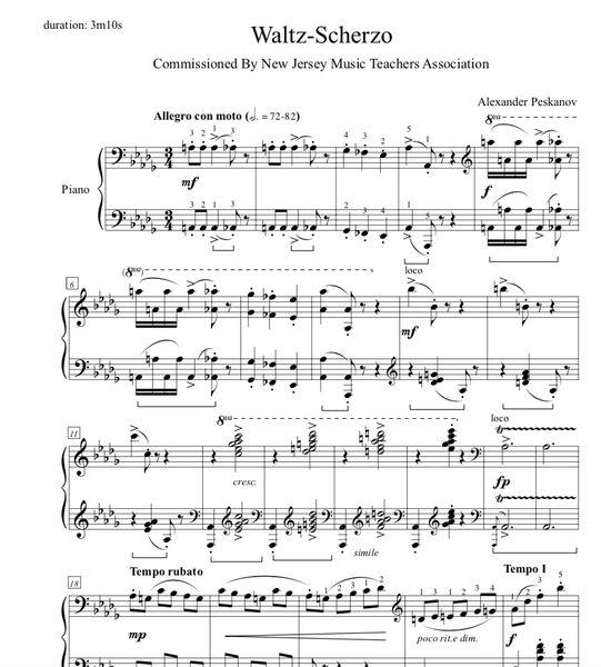 Waltz-Scherzo (e-Print)