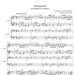 Intermezzo (1 Piano, 4-Hands), Arr. by Irina Mints