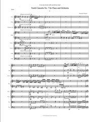 Piano Concerto No. 7 (Orch. Score & Parts) e-Print