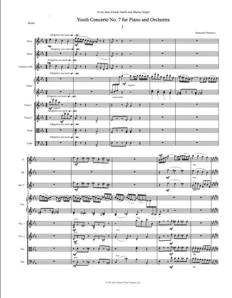 Piano Concerto No. 7 (Orch. Score & Parts) e-Print