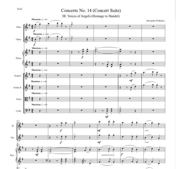 "Piano Concerto No. 14 ""Concert Suite"" (Orch. & Parts) ePrint"