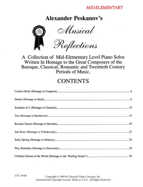 Musical Reflections (Mid-Elementary) - Digital