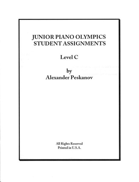 Piano Olympics St.Assignments Level C (Digital)