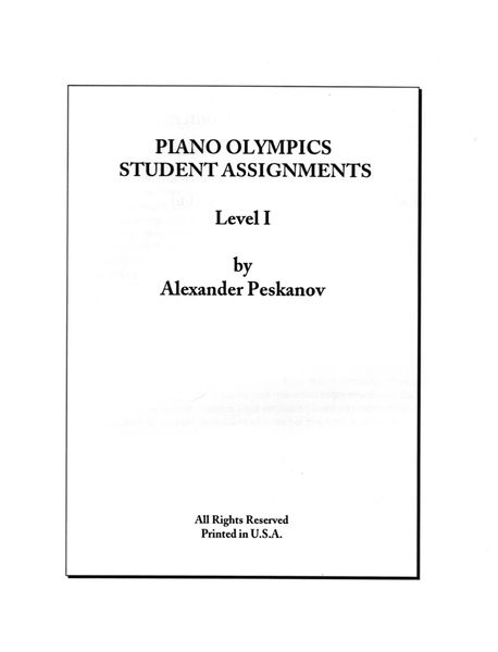 Piano Olympics St. Assignments Level 1 (Digital)