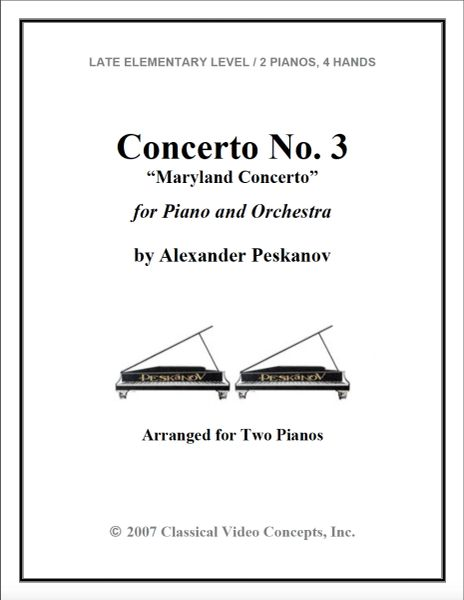 Piano Concerto No. 3 (Arranged for 2 Pianos)