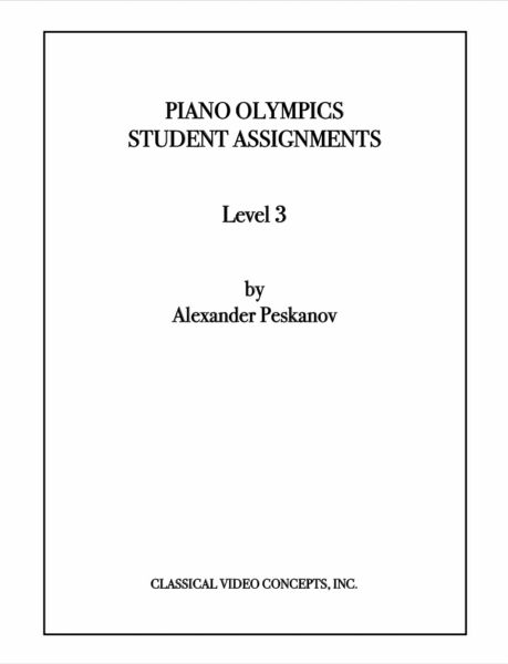Piano Olympics St. Assignments Level 3 (Digital)