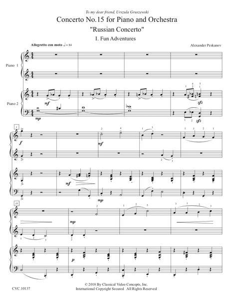 """Piano Concerto No. 15 """"Russian Concerto"""" (Digital)"""