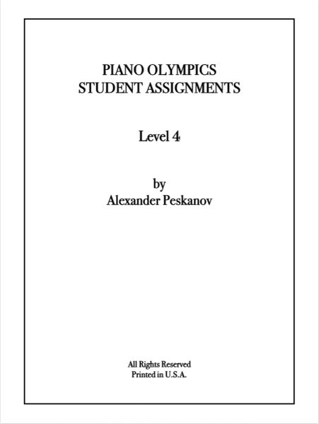 Piano Olympics St. Assignments Level 4 (Digital)
