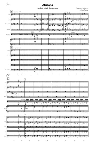Africana (Piano Solo and Chamber Orchestra - Digital)