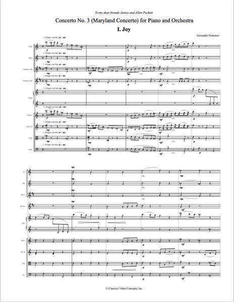 Piano Concerto No. 3 (Orch. Score & Parts) Digital