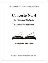 Piano Concerto No. 4 (Arranged for 2 Pianos)