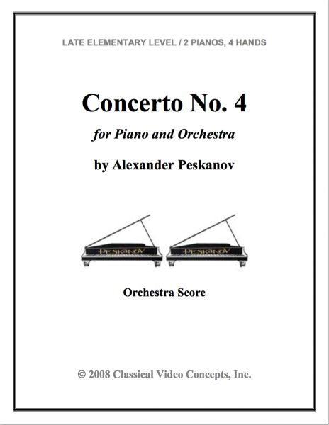 Piano Concerto No. 4 (Orch. Score & Parts)