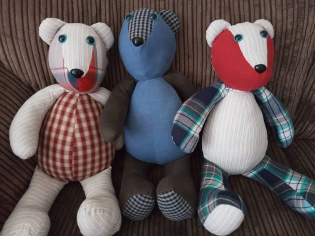 #HeatherMakes #memorybears #madetoorder made from loved ones clothing #sewing #handmade #blogger
