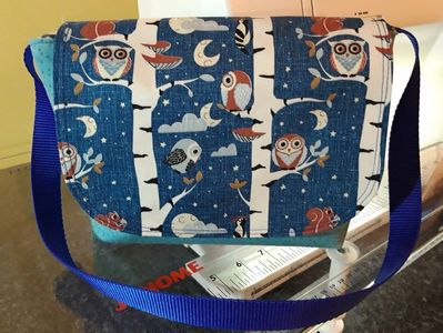 HeatherMakes Messenger bag owls sewing crafting