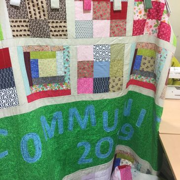 Hospital Road Community centre Quilt #community #quilting #theraputic #mentalhealth #omagh omagh