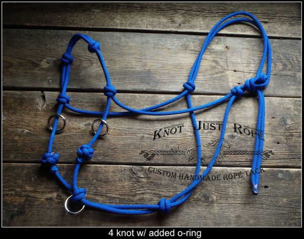 Sliding O-ring Bitless Bridle Riding Halter