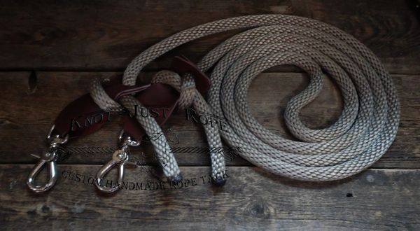 "Adjustable 5/8"" Loop Reins w/ Leather Slobber Straps"