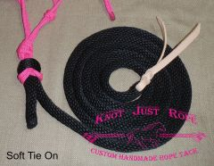 Lead Rope w/ Popper - Soft Tie-on or Optional Clip