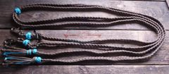 Braided Split Reins- 6 strand flat braid