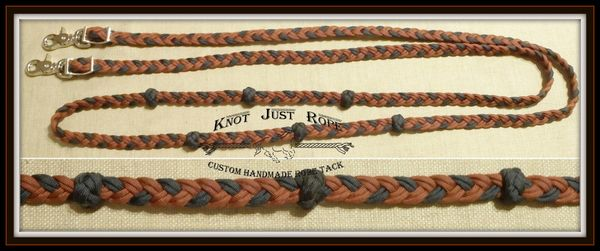 Braided Loop Reins- 6 strand flat